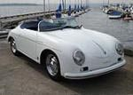 57 Porsche Speedster Replica (white/Navy)
