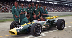 Lotus Cosworth Indy 500 Car Team Photo 1965